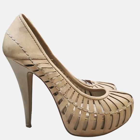 BCBGeneration beige leather heels